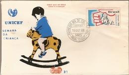 Brazil & FDC UNICEF, Children's Week, Minas Gerais, 1968 (870) - Enfance & Jeunesse