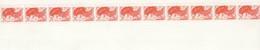 BANDE ROULETTES 11 TIMBRES ** LIBERTE  GANDON  N° 83 #  CHIFFRES ROUGES  Sur 1 ET11 # 2.00f - Coil Stamps