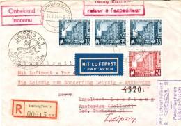 DDR Ex. 433 - 434 Als MiF Auf LP- R- Ausl.- Brief V. Altenburg Via Leipzig 1954 N. Holland