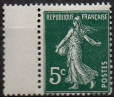FRANCE - 5 C. Semeuse Plus Grand Que Le Normal Par Saut Du Peigne Neuf TTB