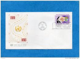 MARCOPHILIE-Enveloppe Illustrée FDC-UN NERW YORK 1968- Veille Méteo Mondiale-OMM-WMO - New-York - Siège De L'ONU