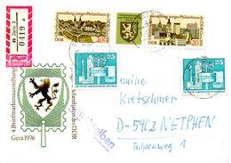 RDA. N°1830A De 1976 Sur Enveloppe Commémorative Ayant Circulé. Exposition Philatélique à Gera.