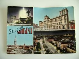 SALUTI  DA  MODENA   EMILIA ROMAGNA   VIAGGIATA  COME DA FOTO ACQUERELLATA - Modena