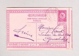 Türkei - Ganzsache 20 Para Von HAYDAR-PACHA 30.11.1910 Nach Alpnachstad Schweiz - 1837-1914 Smyrna