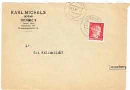 Luxembourg-Lettre KARLMICHELS (Notar) Diekirch An Das Amtsgericht1943