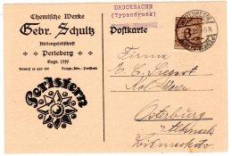 Reklamekarte, Chemische Werke Gebr.Schultz, Perleberg.