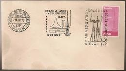 Brazil & FDC X Anniversary, Congress Palace, Brasilia 1970 (85)