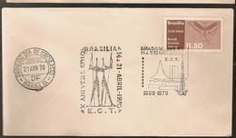 Brazil & FDC X Anniversary, Congress Palace, Brasilia 1970 (86)
