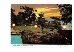 Cpm - GUAM - Night Falls On Romantic Guam - Hôtel Nuit Piscine Terrasse - 1979 - Guam