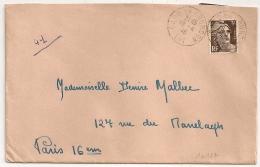 GARE DE GOURDON Lot Sur Enveloppe Sur 3F GANDON. 1946. - 1921-1960: Moderne