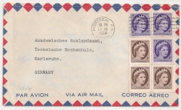 MONTREAL P.Q. CANADA TO GERMANY. 1958. - 1952-.... Règne D'Elizabeth II