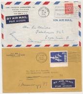 2 COVERS TORONTO CLARKSON TO SWEDEN And DANMARK. - 1952-.... Règne D'Elizabeth II