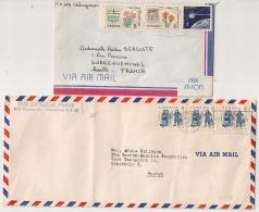 2 COVERS, CHIBOUGAMAU, VANCOUVER TO EUROPE. - 1952-.... Regno Di Elizabeth II