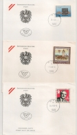 3 COVERS  AUTRICHE AUSTRIA 1986.