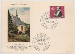 500 JAHRE ST NIKOLAUS HOSPITAL BERNKASTEL KUES. 1958. - Allemagne