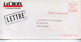 EMA Culture,edition Journal Quotidien La Croix L'evenement,rue Bayard Paris,lettre Obliterée 23.3.1984