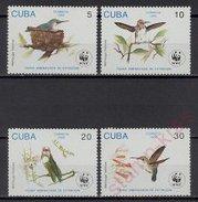 CUBA 1992  WWF Birds, Hummingbirds  4v.  Perf.