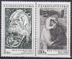 ** Tchécoslovaquie 1973 Mi 2162-3 Zw (Yv 2007-8), (MNH)
