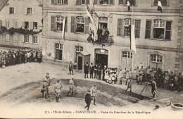 68 DANNEMARIE Visite Du Président De La République - Dannemarie