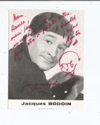 JACQUES BODOIN CARTE AVEC AUTOGRAPHE - Autographs