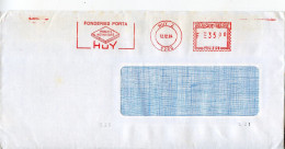 Belgique,marcophilie EMA Industrie Fonderie Porta Huy,metallurgie,lettre Obliterée 5200 Huy 12.12.1984 - Poststempel