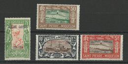 SPM - YVERT N°159B/E ** MNH - COTE = 142 EURO - - Unused Stamps