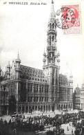 [DC3516] CPA - BELGIO - BRUXELLES - HOTEL DE VILLE - Viaggiata 1910 - Old Postcard - Altri