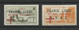 SPM - YVERT N°310/311 ** / MNH SANS CHARNIERE  - COTE = 280 EURO - FRANCE LIBRE - St.Pierre & Miquelon