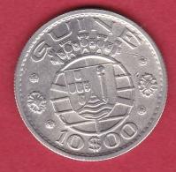 Guinée Portugaise - 10 Escudos Argent 1952 - SUP - Guinée