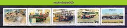 Ncf061 TRANSPORT INDUSTRIE BUSSEN BOUWEN MAKING BUSSES CHASSIS BODY PAINTING INDUSTRY BOPHUTHATSWANA 1990 PF/MNH - Bussen