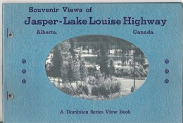 """Souvenir Views Of Jasper - Lake Louise Highway Hole Punched  18 Pages  9"""" X 6""""  22.5 Cm X 15 Cm - North America"""