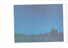 """Cpm - MAGRITTE - L'usage De La Parole - 1978 - Ciel étoiles Lettres Alphabet """" DESIR """" - Illustrators & Photographers"""