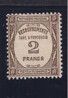 France1927-31:Yvert TT62 Mh* With Full Gum.Cat.Value $200 - Postage Due