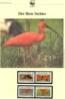 WWF-Set 101 Vögel Rote Sichler TRINIDAD 596/9 ** 15€ Naturschutz Dokumentation 1990 Wildlife Birds Stamp Fauna Of TOBAGO - Trinité & Tobago (1962-...)