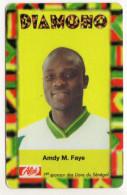 SENEGAL PREPAYEE SONATEL ALIZE 5 000 FCFA AMDY M.FAYE