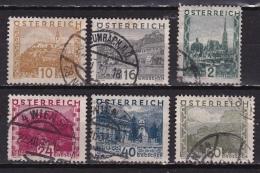 Osterreich /  Austria 1929 Landscapes 6 Values From The Set Incl. 2 Sch. Mi Between 498 - 511 - 1918-1945 1ste Republiek