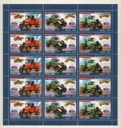# Russia 2007 Mi. 1437/1439 The First Native Trucks Old Cars (F/S) MNH **