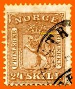 Norvège 1863 P 10 Oblitéré            La Photo Est Celle Du Produit Fourni.