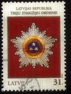 Latvia / Lithuani / Estonia Joint Isuse 2008 Order Highest State Awards LATVIAN  Stamp TRE STAR ORDER USED - Lettland