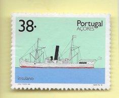 TIMBRES - STAMPS - PORTUGAL  (AÇORES) - 1992 - TRANSPORT DES AÇORES - BATEAU INSULANO - TIMBRE OBLITÉRÉ