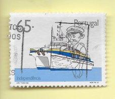 TIMBRES - STAMPS - PORTUGAL  (AÇORES) - 1992 - TRANSPORT DES AÇORES - BATEAU INDEPENDÊNCIA - TIMBRE OBLITÉRÉ