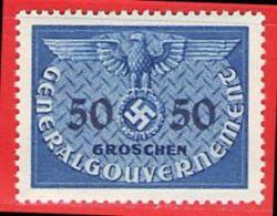 MiNr.10 Xx  Deutschland Besetzungsausgaben II. Weltkrieg Generalgouvernement Dienstmarken - Besetzungen 1938-45