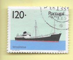 TIMBRES - STAMPS - PORTUGAL  (AÇORES) - 1992 - TRANSPORT DES AÇORES - BATEAU TERCEIRENSE -TIMBRE OBLIT. CLÔTURE DE SÉRIE