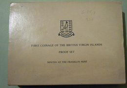 British Virgin Island 1973 Proof Coin Set First Coinage In Original Box - British Virgin Islands