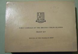 British Virgin Island 1973 Proof Coin Set First Coinage In Original Box - Iles Vièrges Britanniques