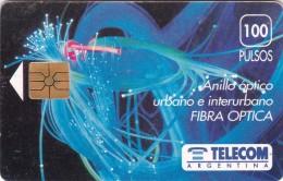Argentina, Card Number 006, As On Photos, Fiber Optics, 2 Scans. - Argentina