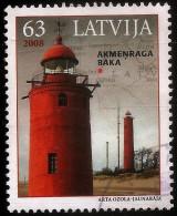 "Latvia , Lettland , Lettonia - 2008 Sea Lighthouse  Beacon, Pharos, Seamark ""AKMENRAGA "" KURLAND Used (0)"