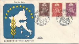 Premier Jour Luxembourg, Europa 1957 RARE