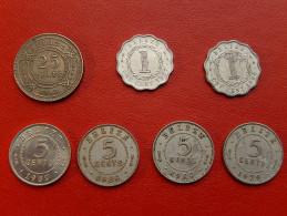 7 Pieces Du BELIZE  - 25 - 5-5-5-5-1-1 - Belize