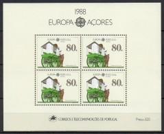 Açores - Bloc Feuillet - 1988 - Yvert N° BF 9 **  - Europa